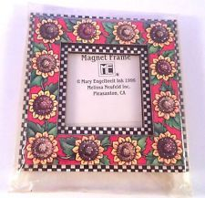 Vintage Sunflower Magnet Mini Picture Frame Mary Engelbreit 1996