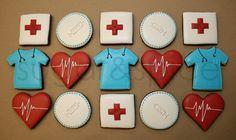 Medical theme cookies - 12 rolled sugar cookies. $39.00, via Etsy.