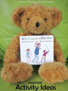 """Learn with Play at home: """"We're Going on a Bear Hunt"""" Activities and a Giveaway.awesome ideas for this children's classic. Preschool Literacy, Preschool Books, Literacy Activities, In Kindergarten, Preschool Activities, Bears Preschool, Emergent Literacy, Play Based Learning, Early Learning"""