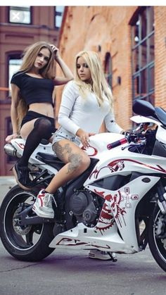 gray and red sport bike Dmitry Filatov Girl Riding Motorcycle, Dirt Bike Girl, Motorbike Girl, Motorcycle Bike, Trucks And Girls, Car Girls, Lady Biker, Biker Girl, Motard Sexy