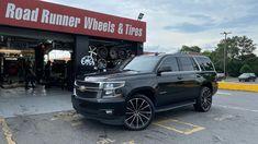 🔥 Chevy Tahoe 🔥 24x9 BBY 06 Illusion Gloss Black Machine Face • 305/35-24 Delinte DS8 • Road Runner Wheels & Tires 1585 Roswell Road Marietta, Ga 30062 Tel: 866-967-8126 • #RoadRunnerWheels #GetLifted #Atlanta #wheelsandtires #chevy #tahoe #chevytahoe #bbywheels #wefinance #bbywheels