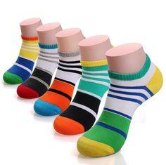 men  colored boat striped socks