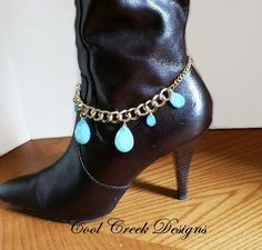 Ladies Boot Jewelry Boot Bracelet Aventurine by CoolCreekDesigns