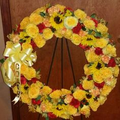 Funeral wreath for a coach.