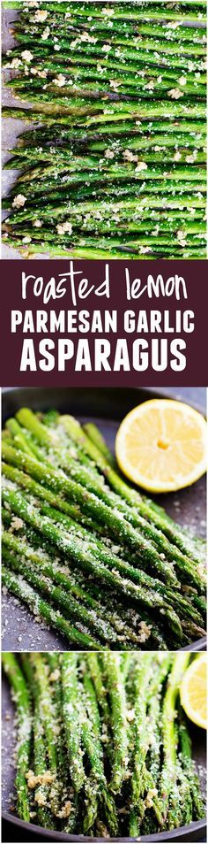 This Lemon Parmesan Garlic Asparagus is full of such amazing flavor! This is one of the BEST sides that you will make!