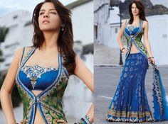 Soma Sengupta Indian Bridal- Blue!