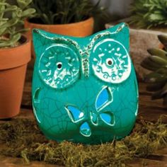 Owl Solar Lighted Figurine