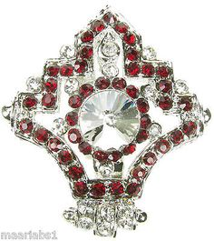 #Silver maroon #brooch #diamante broach vintage shoe cake topper pin bridal new u,  View more on the LINK: 	http://www.zeppy.io/product/gb/2/181556857246/