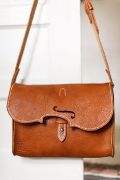 Violin Leather satchel, book bag, tote, purse, messenger bag, crossbody bag, hand made in usa, Austin Leather, trimgotrix, monica jacobson