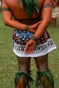 Hand, leg, and abdomen tattoos on a Western Samoan chieftain who attends the South Pacific Arts Festival. Photographer:Catherine Karnow Location:Upolu, Samoa