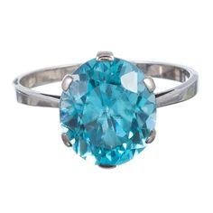 Gems Jewelry, Fine Jewelry, Women Jewelry, Jewelry Box, Jewellery, Blue Zircon, Blue Topaz Ring, Coloured Stone Rings, Gold Solitaire Ring