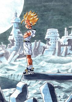 Gohan It was made long time ago with poster colors and on print paper on so the quality isnt so good, but thank you for so many love for this a. Gohan resubmited with better resolution Dragon Ball Gt, Image Dbz, Fanarts Anime, Anime Characters, Colorfull Wallpaper, Goten Y Trunks, Foto Do Goku, Character Art, Character Design