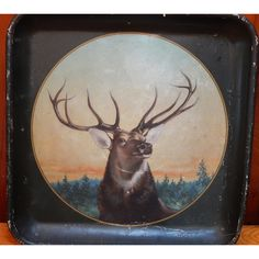Stag Tray - Rustic Decor | Vintage Adirondack
