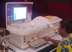 Six Feet Under: Hello Kitty Casket equipped with a t.v. that plays Hello Kitty cartoons.