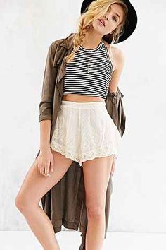 Truly Madly Deeply Cropped Halter Top - Urban Outfitters