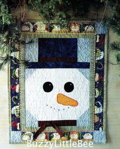 Easy Christmas Quilt Block Pattern | Quilt Pattern Mr Snowman Wall Hanging Winter Christmas Season | eBay