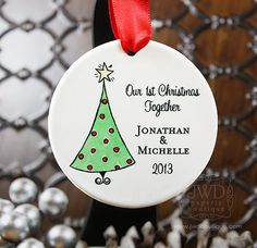 Our First Christmas Together Ornament Our First by JWDBoutique