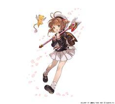 Sakura illustration from the upcoming Granblue Fantasy x Cardcaptor Sakura collab event.