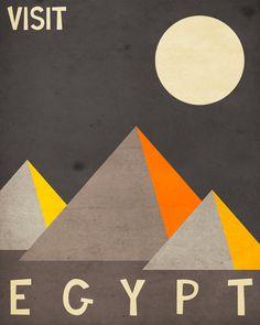 Egypt Travel Poster Art Print