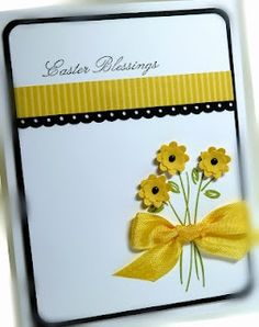Love the color combination, the ribbon design can be achieved with washi tape...love the dainty flowers with the bow.