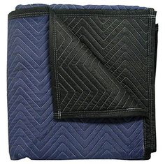 "Supreme Moving Blankets (12-Pack) - Weight: 65 Lbs Per Dozen - Size: 72"" x 80"" - Color: Blue / Black - Brand: Cheap Cheap Moving Boxes - Professional Quality Moving Blankets At The Lowest Prices."