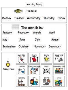 Calendar Time worksheet - laminate and use a dry erase marker!
