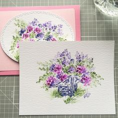 New tutorial going up on my YouTube channel tomorrow night! Learn how I watercolored this little Spring Basket set by @artimpressions !! YouTube link in bio! #stamping #watercolor #diy #artimpressions #watercolortheartimpressionsway #watercolour