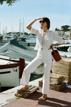 French chic | Jeanne Damas | Nautical style | Spring & Summer | Dockside, msrina | All white