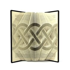 Book folding pattern - CELTIC KNOT - 304folds + Tutorial with Simple pattern - Heart - SI0504