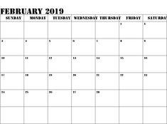 188 Best February 2019 Calendar Images In 2019