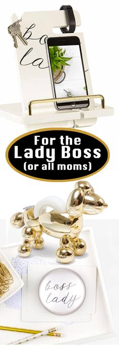 If you run your own business, you are Lady Boss. If you are a mom, running the home and family, Lady Boss. Or maybe you are taking charge of your own life ~ yes, again, Lady Boss. Cute pieces for the office space. #officedecor #cellphonesaccessories #ladyboss #workfromhome #ad