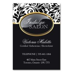 Sophisticated Salon and Spa Appointment Card Large Business Cards (Pack Of 100). I love this design! It is available for customization or ready to buy as is. All you need is to add your business info to this template then place the order. It will ship within 24 hours. Just click the image to make your own!
