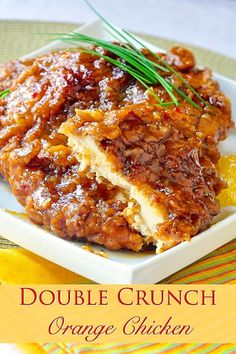 This very inviting crispy orange chicken recipe is… Double Crunch Orange Chicken. This very inviting crispy orange chicken recipe is an outstanding variation of our Double Crunch Honey Garlic Chicken recipe. Crispy Orange Chicken Recipes, Garlic Chicken Recipes, Honey Garlic Chicken, Breaded Chicken, Crispy Chicken, Recipe Chicken, Butter Chicken, Healthy Chicken, Orange Chicken Breast Recipe