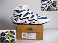 UNWORN 90`S VINTAGE ADIDAS EQUIPMENT CUSHION M SHOES (FEET YOU WEAR)