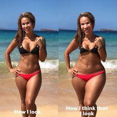 BODY DYSMORPHIA. How I think I look versus how I really look.