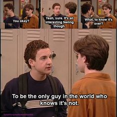 Boy Meets World - Shawn Hunter & Cory Matthews (Ben Savage) Cory And Shawn, Cory And Topanga, Best Tv Shows, Best Shows Ever, Favorite Tv Shows, Boy Meets World Quotes, Girl Meets World, Boy Meets World Shawn, Tv Show Quotes