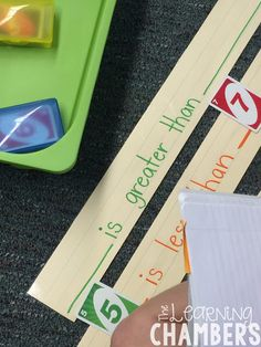 Greater than and less than with Uno Cards [The Learning Chambers}