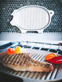 Pig-Shaped BBQ Griller/Serving Tray | Groomsmen Gifts | #TheManRegistry http://www.themanregistry.com/gifts/wilton-armetale-pig-shaped-griller.html