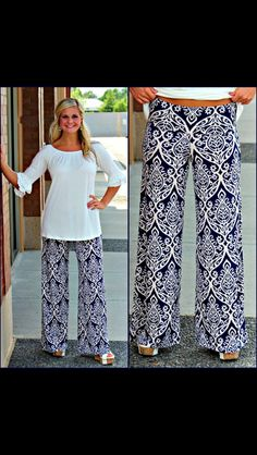 Palazzo pants from Pink Coconut Boutique. Love!