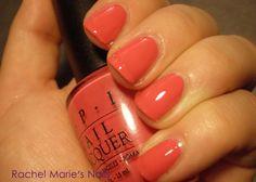 "opi ""moroccan melon"" - orangey pink coral creme"