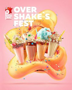 Over Shake's Fest #feelfactory #foodprint #рыбарис #постер #ffprint