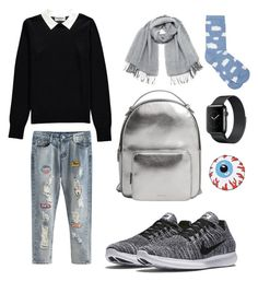 """school's outfit 1"" by salnrdzk ❤ liked on Polyvore featuring Essentiel, NIKE, Vero Moda, M&Co and MANGO"