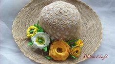 kapelusz z kwiatami z ,,Foamirana
