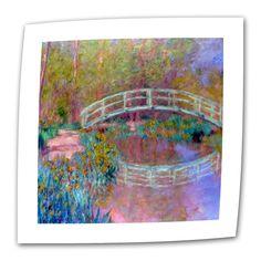 Japanese Bridge by Claude Monet Painting Print on Canvas