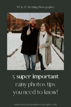 Learn these top rainy engagement pictures tips for romantic and fun rainy engagement photos!  These winter rainy engagement photos tips are must-knows! #rainyengagementpicturesromantic #rainyengaementpictures #rainyengagementphotos #rainyengagement #rainyphotos #rainypictures #rainyengaementphotosfun #rainyengagementphotosideas #rainyengagementpicturesideas #rainyengagementpicturesfun #katiegrahamphotography #rainyengagementphotosromantic #romanticengagementphotos #romanticengagementpictures Rainy Engagement Photos, Engagement Pictures, Engagement Session, Rainy Wedding, Wedding Day, Photo Tips, Winter Jackets, Romantic, Couple Photos