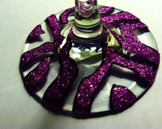 Zebra Pink Glitter Wine Glasses by KashforKollege on Etsy, $15.00