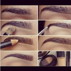 Knowing how to shape and fill in your eyebrow can no doubt complete and compliment your face. However, ladies please I beg you DO NOT go over board. Fix up the eye brow you have don't basically draw a new one over it. There is nothing more awkward than wiping off half your brow while you're out, or if you shack up with a guy, having Jekyll and Hyde brows the next morning. Go with your natural shape and fill in, it's less harsh.