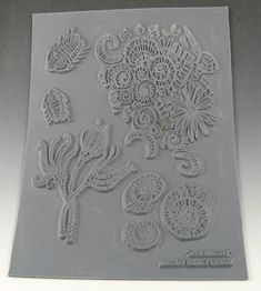 Fossillious an Unmounted stamp great for polymer by LindasArtSpot