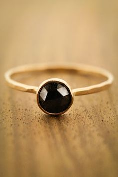 Melissa Joy Manning - Black Diamond Ring