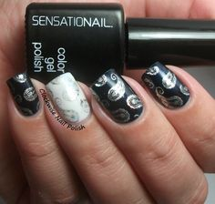 The Clockwise Nail Polish: SensatioNail Blue Yonder Review & Foil Stamping